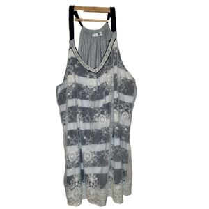 Maurices lace and Stripes tank Size 3